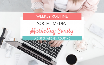 Social Media Marketing Sanity: A 5 Step Weekly Routine for Success